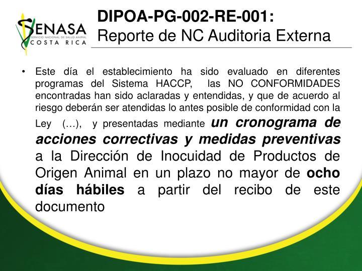 DIPOA-PG-002-RE-001: