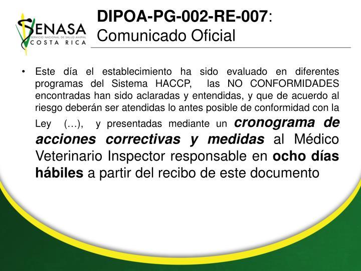 DIPOA-PG-002-RE-007