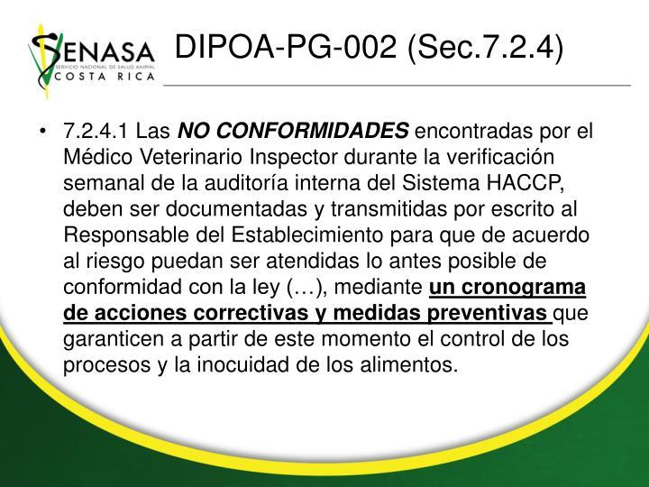 DIPOA-PG-002 (Sec.7.2.4)