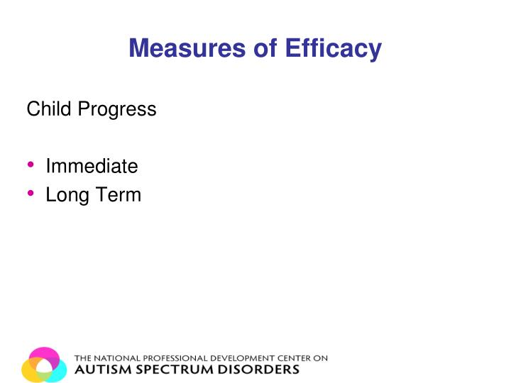 Measures of Efficacy