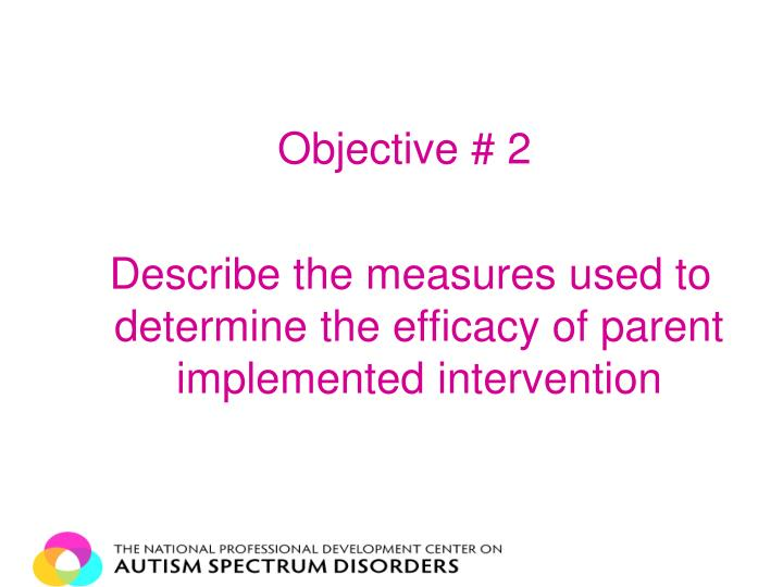 Objective # 2