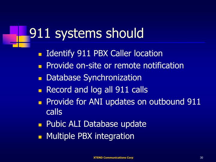 911 systems should