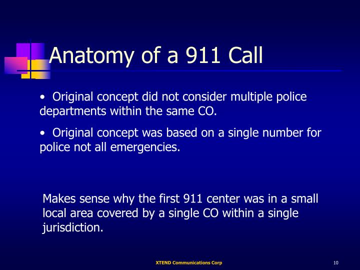 Anatomy of a 911 Call