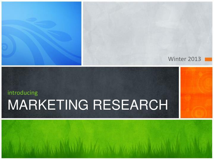 introducing marketing research