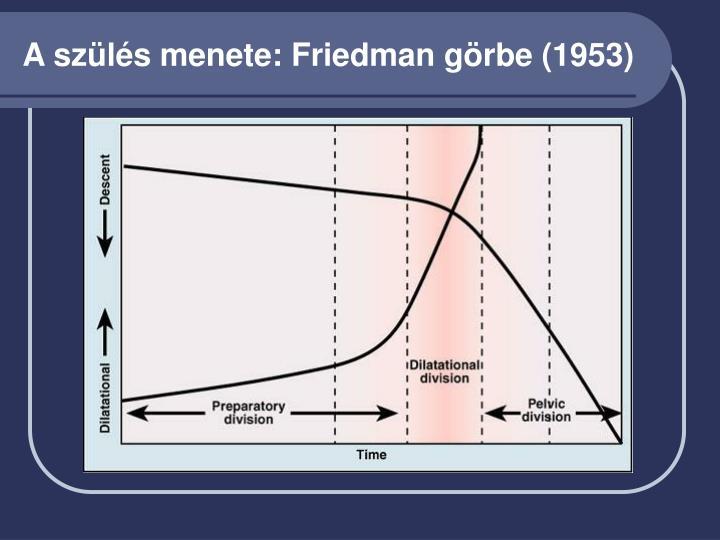 A szülés menete: Friedman görbe (1953)