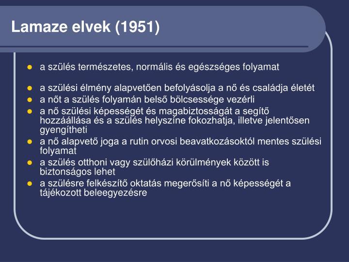 Lamaze elvek (1951)