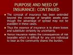 purpose and need of insurance continued4
