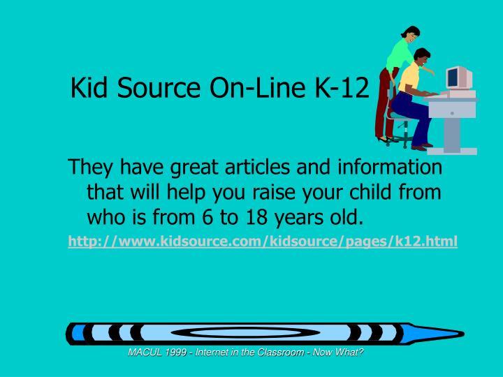 Kid Source On-Line K-12