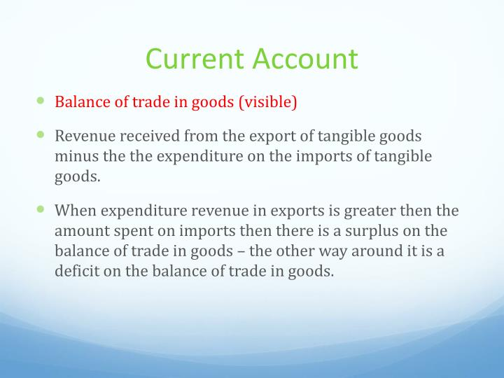 Current account1
