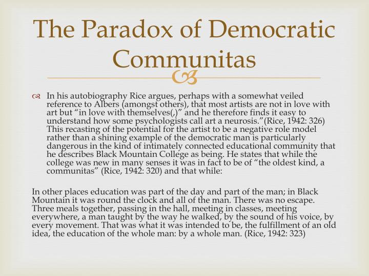 The Paradox of Democratic
