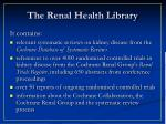 the renal health library