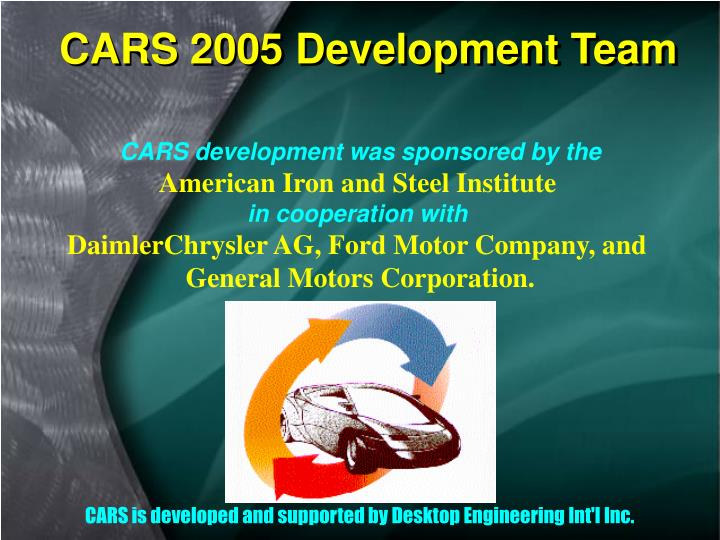 CARS 2005 Development Team