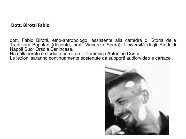 Dott. Birotti Fabio
