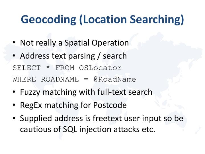 Geocoding (Location Searching)