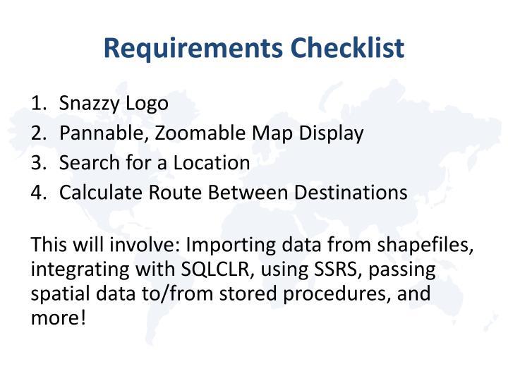 Requirements Checklist