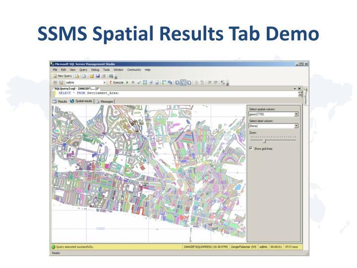 SSMS Spatial Results Tab Demo