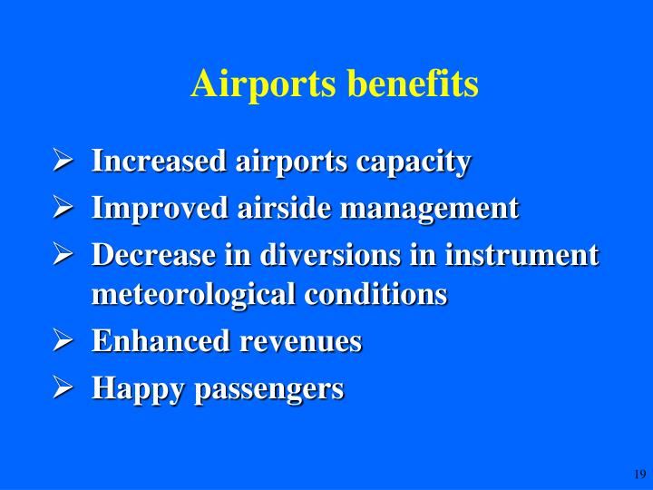 Airports benefits