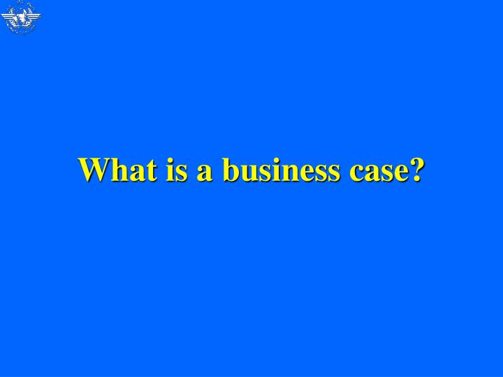 What is a business case?