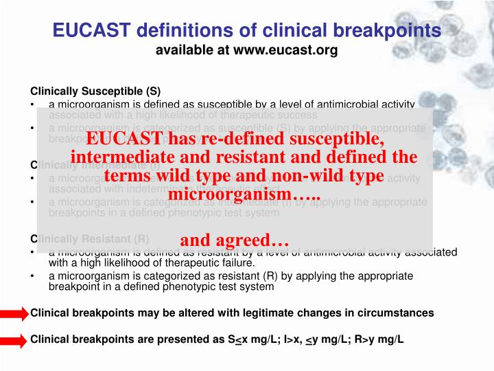 EUCAST definitions of clinical breakpoints