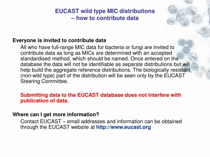 EUCAST wild type MIC distributions