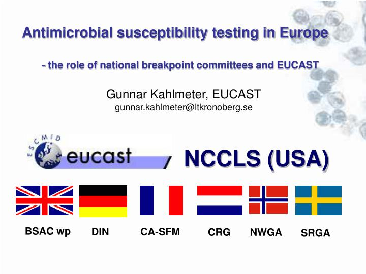 Antimicrobial susceptibility testing in Europe
