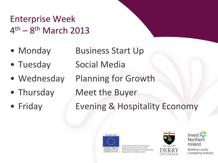 Enterprise Week