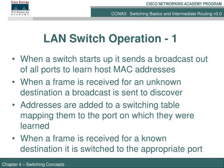 LAN Switch Operation - 1