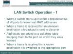 lan switch operation 1