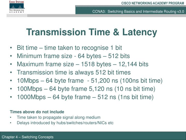 Transmission Time & Latency