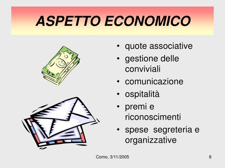 ASPETTO ECONOMICO