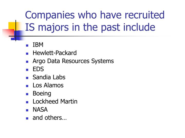 Companies who have recruited