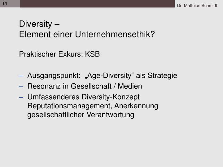 Diversity –