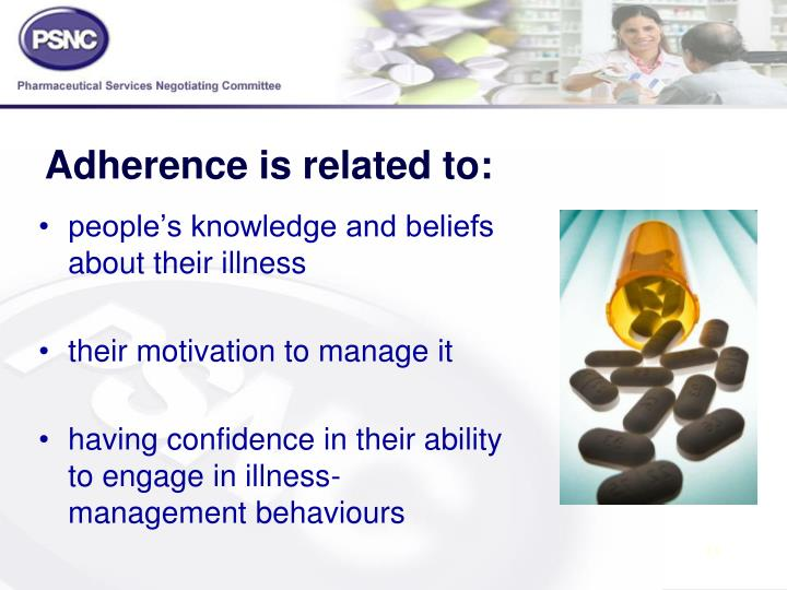 Adherence is related to: