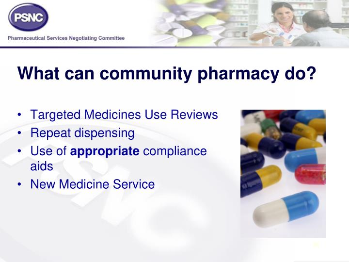 What can community pharmacy do?