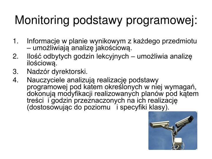 Monitoring podstawy programowej: