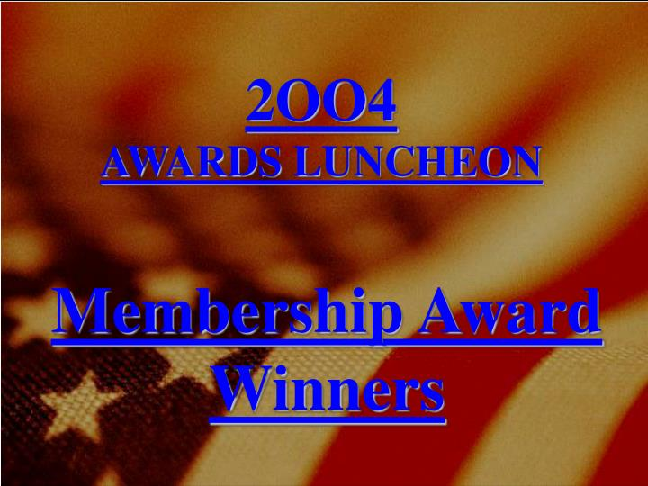 membership award winners