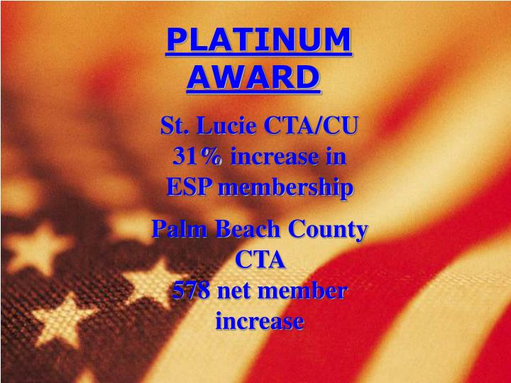 Palm beach county cta 578 net member increase