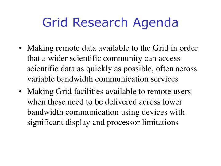 Grid Research Agenda