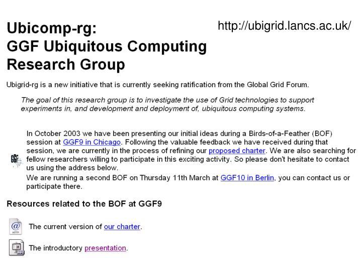 http://ubigrid.lancs.ac.uk/