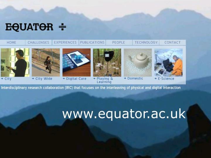 www.equator.ac.uk