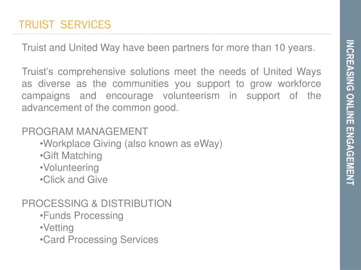 Truist and United Way have been partners for more than 10 years.