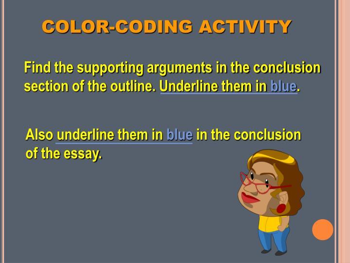 COLOR-CODING ACTIVITY