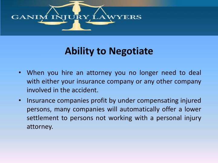 Ability to Negotiate