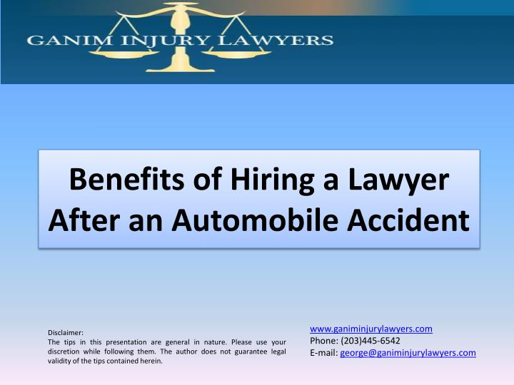 benefits of hiring a lawyer after an automobile accident