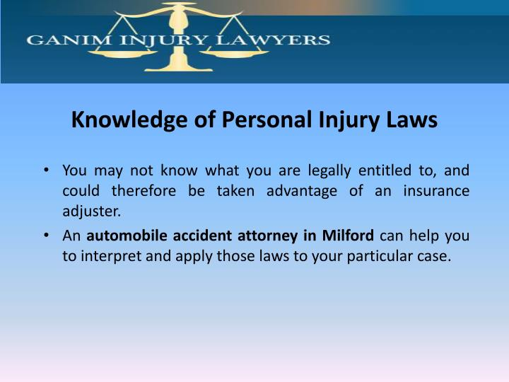 Knowledge of Personal Injury Laws