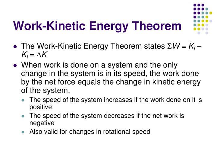 Work-Kinetic Energy Theorem