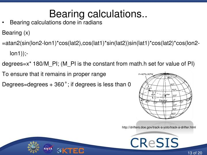 Bearing calculations..