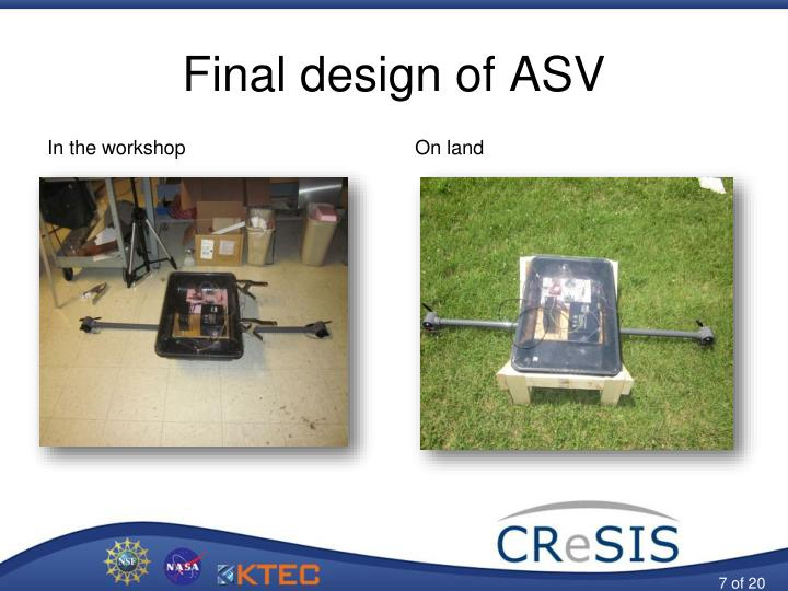 Final design of ASV