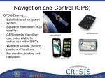 navigation and control gps
