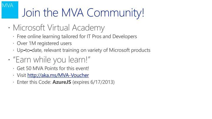 Join the MVA Community!